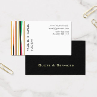 Professional Stripes Pediatric Doctor  Appointment Business Card