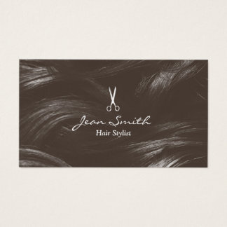 Professional Tan Hair Stylist Hair Salon Business Card