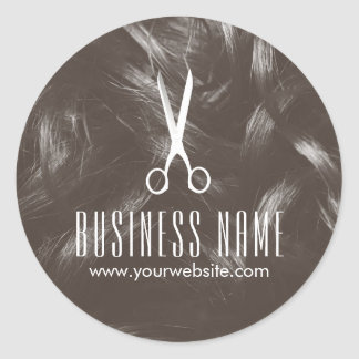 Professional Tan Hair Stylist Hair Salon Product Round Sticker