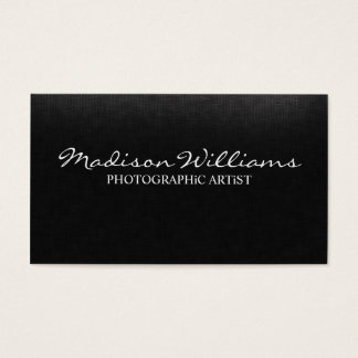 Professional Unique Elegant Photographic Artist Business Card