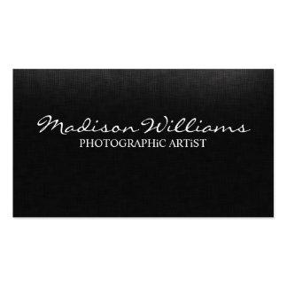 Professional Unique Elegant Photographic Artist Pack Of Standard Business Cards
