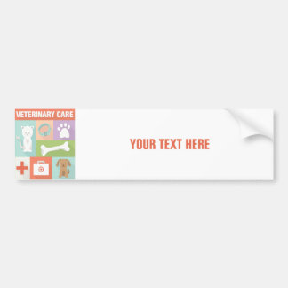 Professional Veterinarian Iconic Designed Bumper Sticker