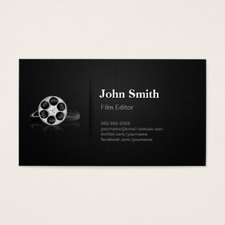 Professional Video Film Editor Cutter Director Business Card