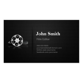 Professional Video Film Editor Cutter Director Pack Of Standard Business Cards