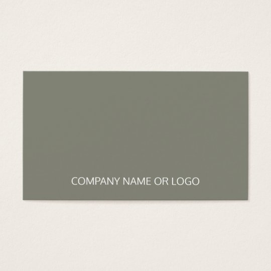 Professional Vintage Elegant Green Company Business Card