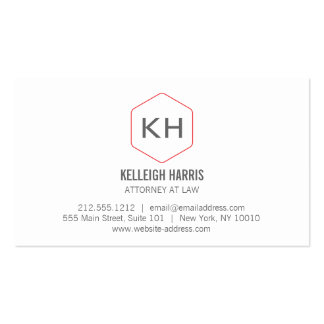 Professional Vintage Monogram Logo for Attorneys Business Card