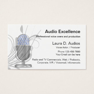 Professional Voice Actor Business Cards