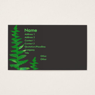 Professional Watercolor Tropical Green Fern Business Card