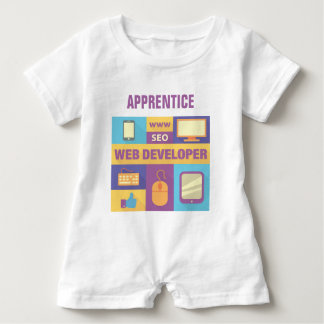 Professional Web Developer Iconic Design Baby Romper