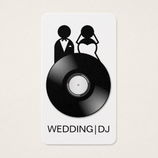 Professional Wedding DJ Logo Business Cards