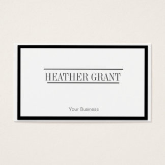 Professional white Business Cards