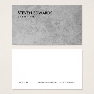 Professional white modern gray concrete minimalist business card