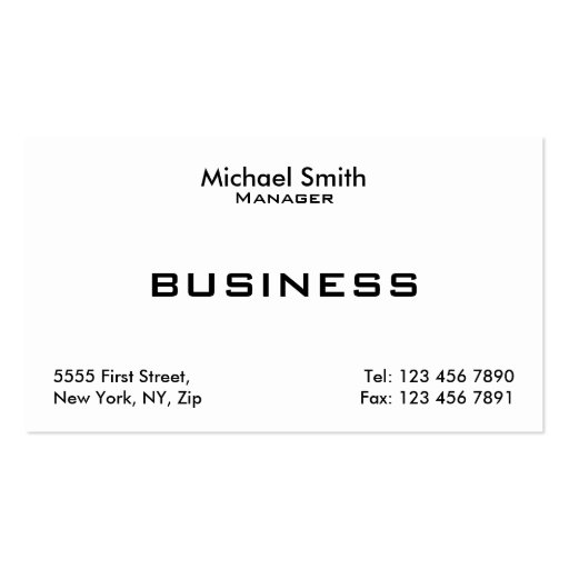 Professional White Plain Elegant Modern Simple Business Card Templates