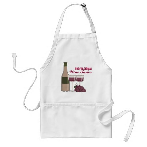 Professional Wine Taster Red Wine Glasses & Grapes Apron