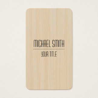 Professional Wood Grain Look #8 Business Card