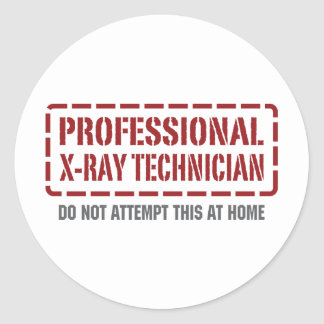 Professional X-Ray Technician Round Sticker
