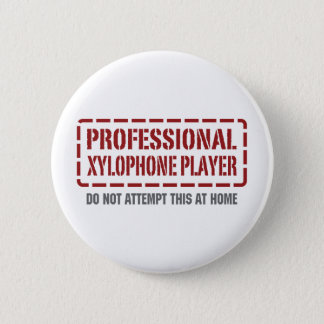 Professional Xylophone Player 2 Inch Round Button
