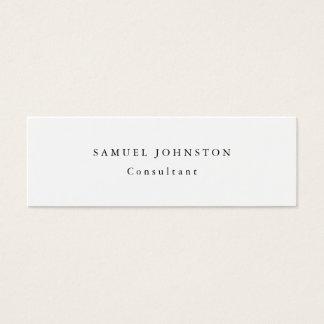 Professionnel blanc simple simple minimaliste mini carte de visite