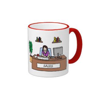 Professionnel de ventes - personnalisable mug ringer