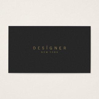 Professionnel noir beige élégant minimaliste cartes de visite