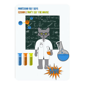 Professor Cat Invitation Card