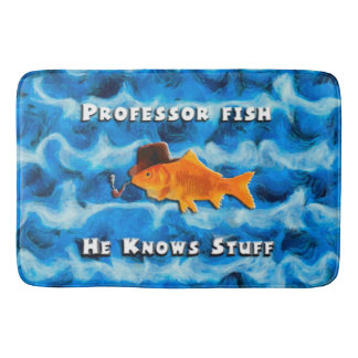 Professor Fish Bath Mat