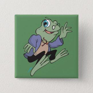 Professor Frog 2 Inch Square Button