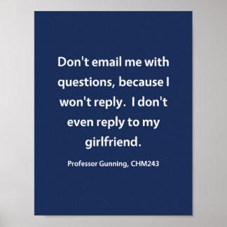 Professor Gunning, CHM243 Poster