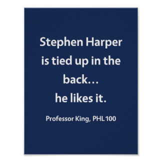 Professor King, PHL100 Poster