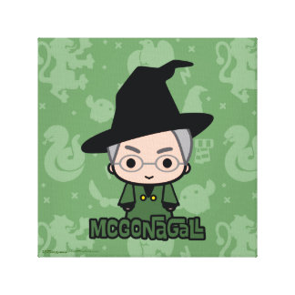 Professor McGonagall Cartoon Character Art Canvas Print