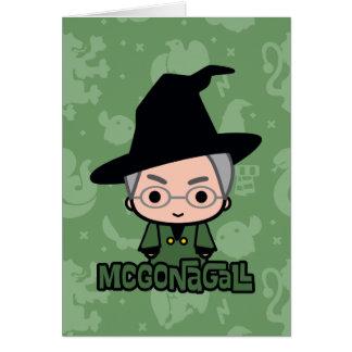 Professor McGonagall Cartoon Character Art Card