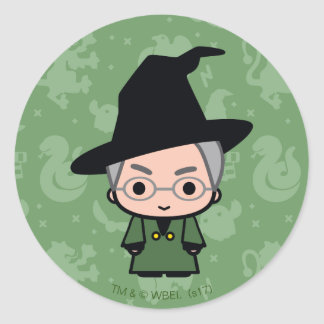 Professor McGonagall Cartoon Character Art Classic Round Sticker