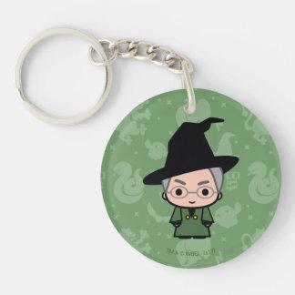 Professor McGonagall Cartoon Character Art Keychain