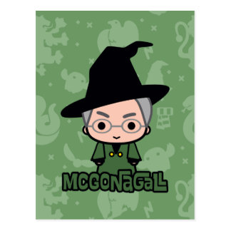 Professor McGonagall Cartoon Character Art Postcard