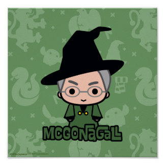 Professor McGonagall Cartoon Character Art Poster