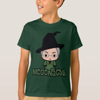 Professor McGonagall Cartoon Character Art T-Shirt
