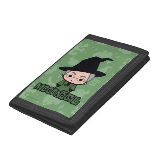 Professor McGonagall Cartoon Character Art Tri-fold Wallet