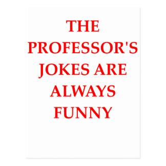 PROFESSOR POSTCARD