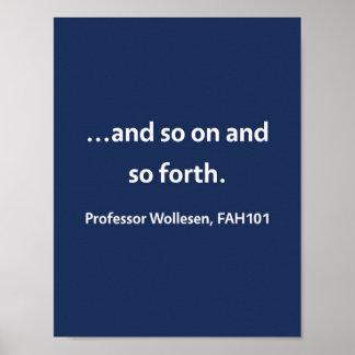 Professor Wollesen, FAH101 Poster