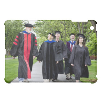 Professors and students walking to graduation iPad mini cover