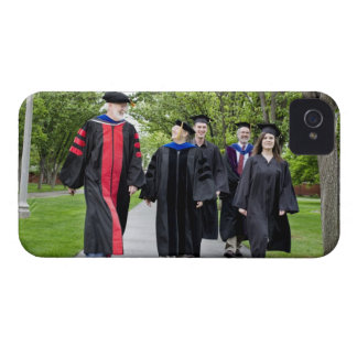 Professors and students walking to graduation iPhone 4 covers