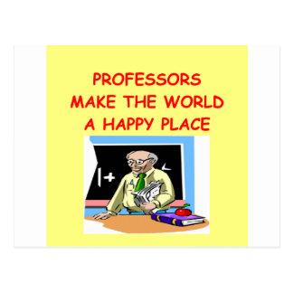 professors postcard