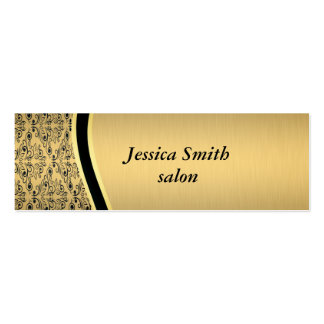 Proffesional elegant damask gold mini business card
