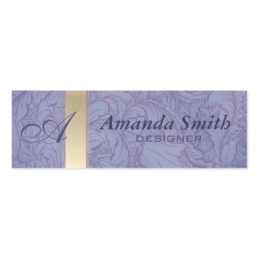 Proffesional elegant floral monogram business cards