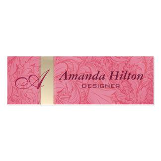 Proffesional elegant floral monogram pack of skinny business cards