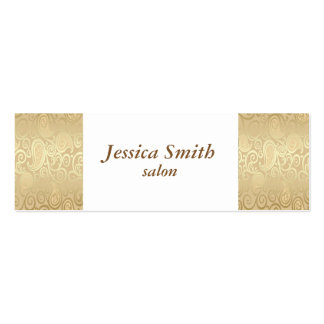 Proffesional elegant gentle floral gold mini business card