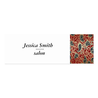 Proffesional elegant gentle floral mini business card