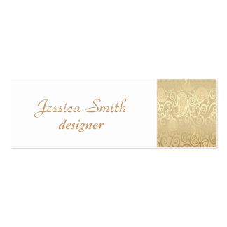 Proffesional elegant gentle floral mini business card