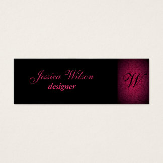 Proffesional elegant gentle floral monogram mini business card