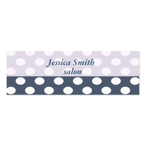 Proffesional elegant modern polka dots business card template
